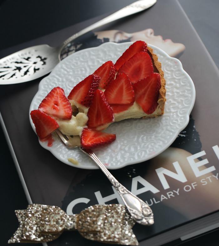 1-Jordbær & vanilje terte