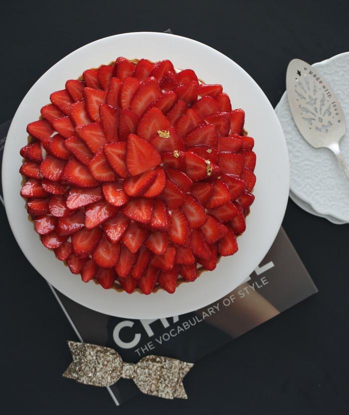 2-Jordbær & vanilje terte